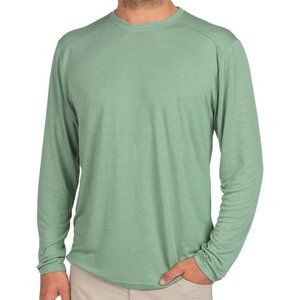 Free Fly Light Bamboo Long Sleeve Green T-Shirt, L